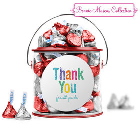 Bonnie Marcus Collection Teacher Appreciation Colorful Thank You Paint Can with Sticker