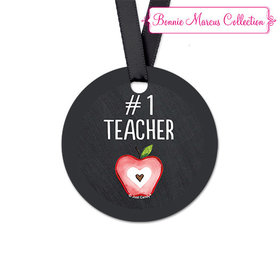 Bonnie Marcus Collection Apple Teacher Appreciation Round Favor Gift Tags (20 Pack)