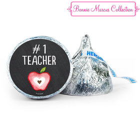 Personalized Bonnie Marcus Collection Teacher Appreciation Apple 7oz Giant Hershey's Kiss
