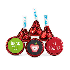 Personalized Bonnie Marcus Teacher Appreciation Apple Hershey's Kisses (50 pack)