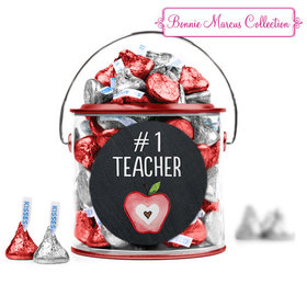 Bonnie Marcus Collection Teacher Appreciation Apple Paint Can with Sticker