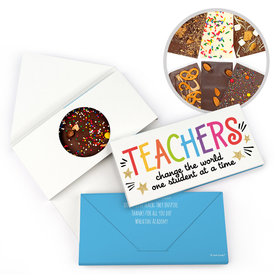 Personalized Gold Star Teacher Appreciation Gourmet Infused Belgian Chocolate Bars (3.5oz)