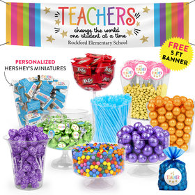 Personalized Teacher Appreciation Gold Star Deluxe Candy Buffet