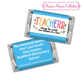 Personalized Bonnie Marcus Collection Teacher Appreciation Gold Star Hershey's Miniatures