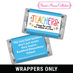 Personalized Bonnie Marcus Collection Teacher Appreciation Gold Star Mini Wrappers
