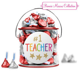 Bonnie Marcus Collection Teacher Appreciation Gold Star Paint Can with Sticker