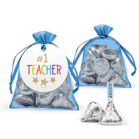 Bonnie Marcus Teacher Appreciation Gold Star Hershey's Kisses in Organza Bags with Gift Tag