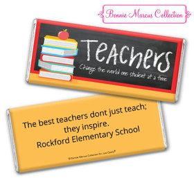 Personalized Bonnie Marcus Teacher Appreciation Books Chocolate Bar Wrappers