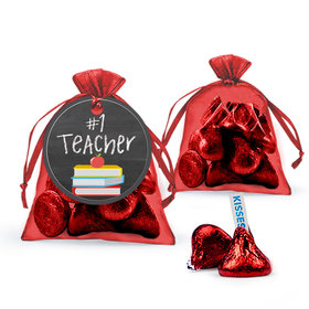 Bonnie Marcus Teacher Appreciation Books Hershey's Kisses in Organza Bags with Gift Tag