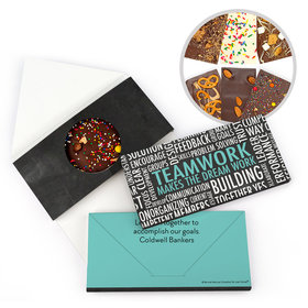 Personalized Word Cloud Teamwork Gourmet Infused Belgian Chocolate Bars (3.5oz)