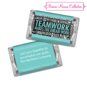Personalized Bonnie Marcus Collection Teamwork Word Cloud Assembled Hershey's Miniatures