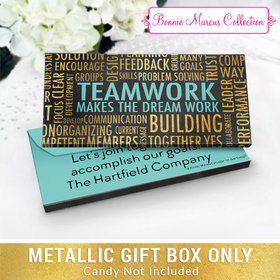 Deluxe Personalized Word Cloud Teamwork Metallic Gift Box