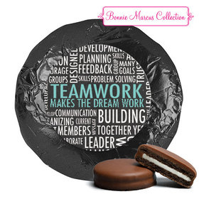 Personalized Bonnie Marcus Collection Teamwork Word Cloud Assembled Belgian Chocolate Covered Oreos (24 Pack)