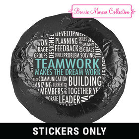 """Personalized Bonnie Marcus Collection Teamwork Word Cloud 1.25"""" Stickers (48 Stickers)"""