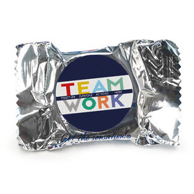 Personalized Bonnie Marcus Collection Teamwork Word Cloud Assembled York Peppermint Patties (84 Pack)
