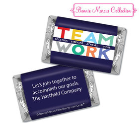 Personalized Bonnie Marcus Collection Teamwork Acrostic Assembled Hershey's Miniatures