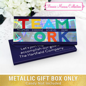 Deluxe Personalized Acrostic Teamwork Candy Bar Favor Box