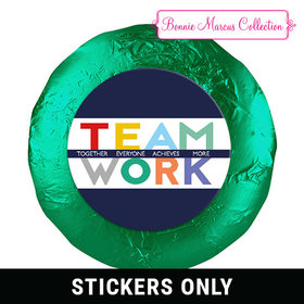 "Personalized Bonnie Marcus Collection Teamwork Acrostic 1.25"" Stickers (48 Stickers)"