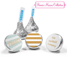 Personalized Bonnie Marcus Stripes and Dots Thank You Hershey's Kisses (50 Pack)