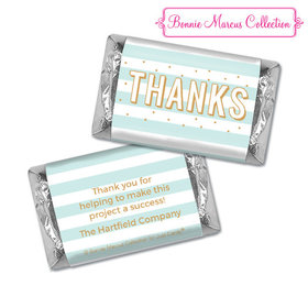Personalized Bonnie Marcus Stripes and Dots Thank You Hershey's Miniatures