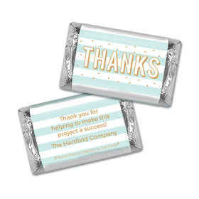 Personalized Bonnie Marcus Stripes and Dots Thank You Mini Wrappers Only