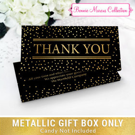 Deluxe Personalized Gold Dots Thank You Candy Bar Favor Box