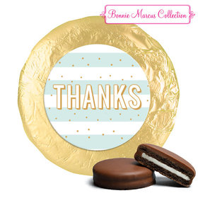 Personalized Bonnie Marcus Stripes and Dots Thank You Chocolate Covered Oreos (24 Pack)