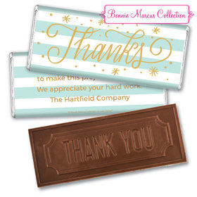 Personalized Bonnie Marcus Stars and Stripes Thank You Embossed Chocolate Bar