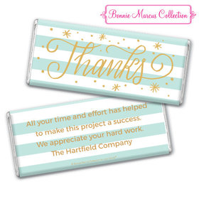 Personalized Bonnie Marcus Stars and Stripes Thank You Chocolate Bar & Wrapper
