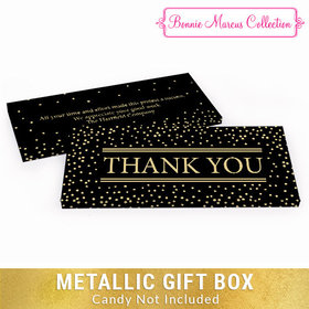 Deluxe Personalized Gold Dots Thank You Metallic Candy Bar Cover