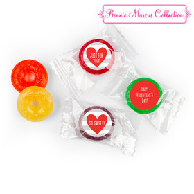 Personalized Valentine's Day Heart and Stripes LifeSavers 5 Flavor Hard Candy (300 Pack)