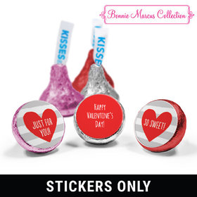 "Personalized Valentine's Day Heart and Stripes 3/4"" Stickers (108 Stickers)"