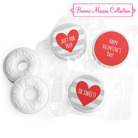 Personalized Valentine's Day Heart and Stripes LIFE SAVERS Mints