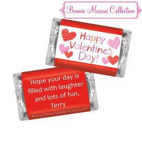 Bonnie Marcus Personalized Valentine's Day Red and Pink Hearts Hershey's Miniatures