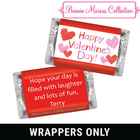 Bonnie Marcus Personalized Valentine's Day Red and Pink Hearts Mini Wrappers