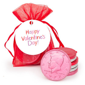 Valentine's Day Extra Small Organza Bag of Assorted Chocolate Coins