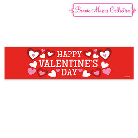 Valentine's Day Bonnie Marcus Solid Red 5 Ft. Banner
