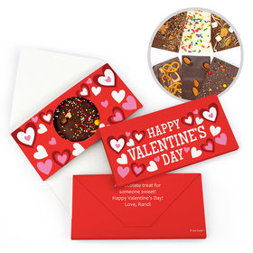 Personalized Fluttering Hearts Valentine's Day Gourmet Infused Belgian Chocolate Bars (3.5oz)