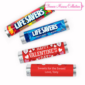 Personalized Valentine's Day Bonnie Marcus Solid Red Lifesavers Rolls (20 Rolls)