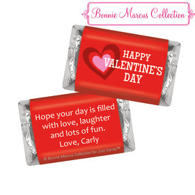 Bonnie Marcus Personalized Valentine's Day Solid Red Hershey's Miniatures