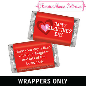Bonnie Marcus Personalized Valentine's Day Solid Red Mini Wrappers