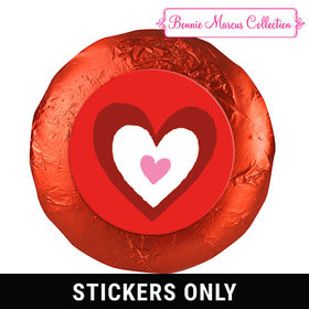 "Bonnie Marcus Collection Valentine's Day Inner Heart 1.25"" Stickers (48 Stickers)"