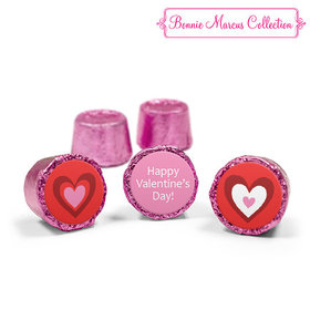 Valentine's Day Hearts Pink Rolos (50 Pack)