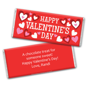 Personalized Valentine's Day Solid Red Chocolate Bar Wrapper