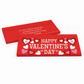 Deluxe Personalized Hearts Valentine's Day Candy Bar Cover