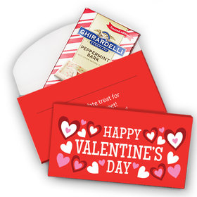 Deluxe Personalized Hearts Valentine's Day Ghirardelli Chocolate Bar in Gift Box (3.5oz)