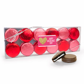 Valentine's Day Glitter 12Pk Chocolate Covered Oreo Cookies