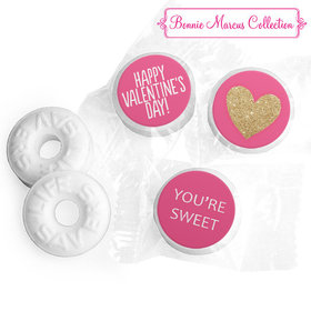 Personalized Valentine's Day Glitter Heart LIFE SAVERS Mints