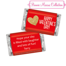 Bonnie Marcus Personalized Valentine's Day Glitter Heart Hershey's Miniatures