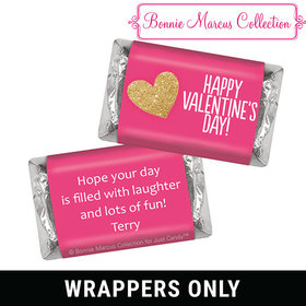 Bonnie Marcus Personalized Valentine's Day Glitter Heart Mini Wrappers